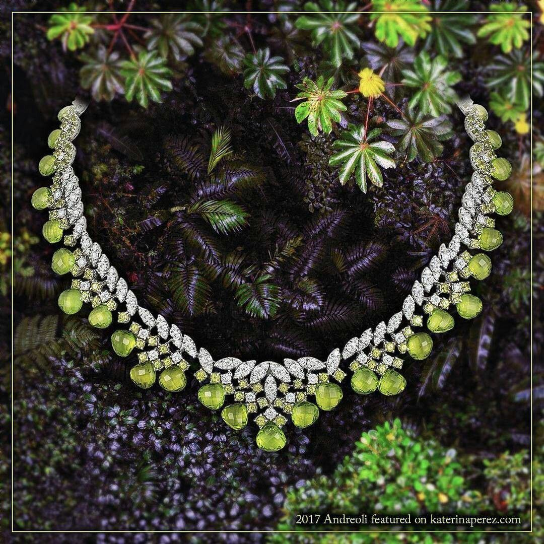 Gorgeous andreolifinejewelry necklace with peridots and diamonds