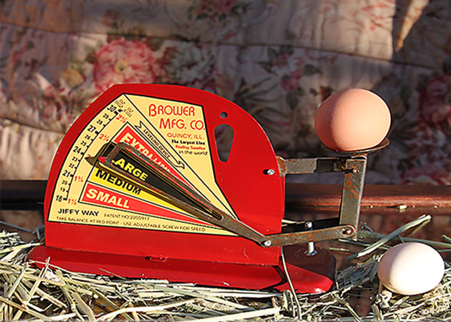 Brower Jiffy Way  Manufacturing Company  Egg Scale