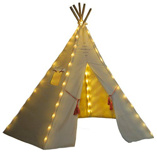 Teepee Lights By Natures Blossom Battery Operated Fits All Kids