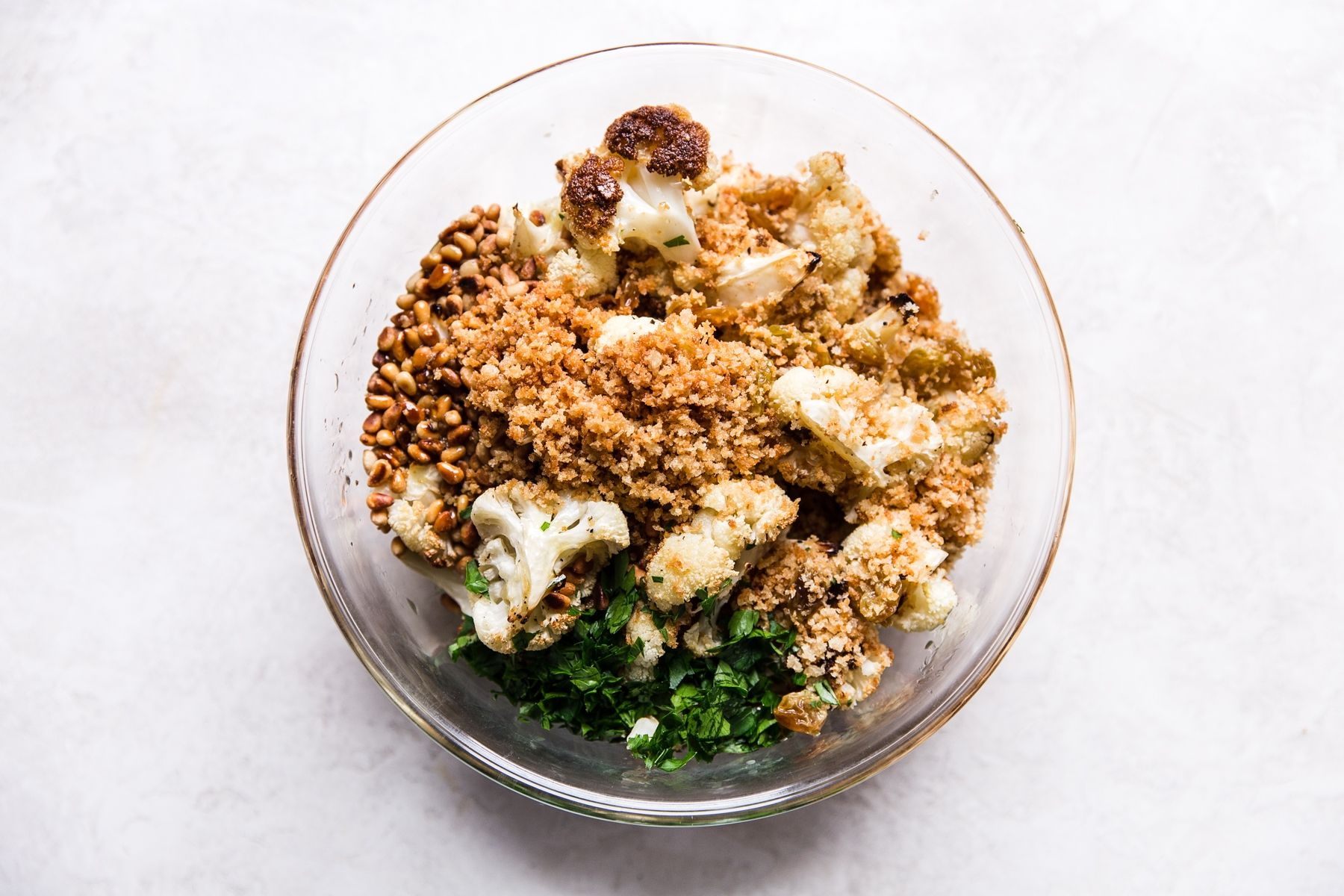 Roasted Cauliflower With Toasted Panko And Golden Raisins Recipe
