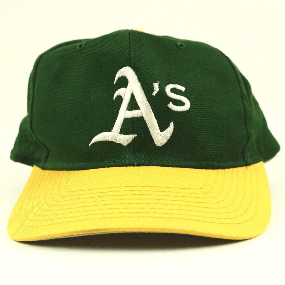 Oakland A S Athletics Green Yellow Vintage Style Snapback Mlb Baseball Hat Cap Athletics Competitor Oaklandathletics Baseball Hats Hats Vintage Fashion