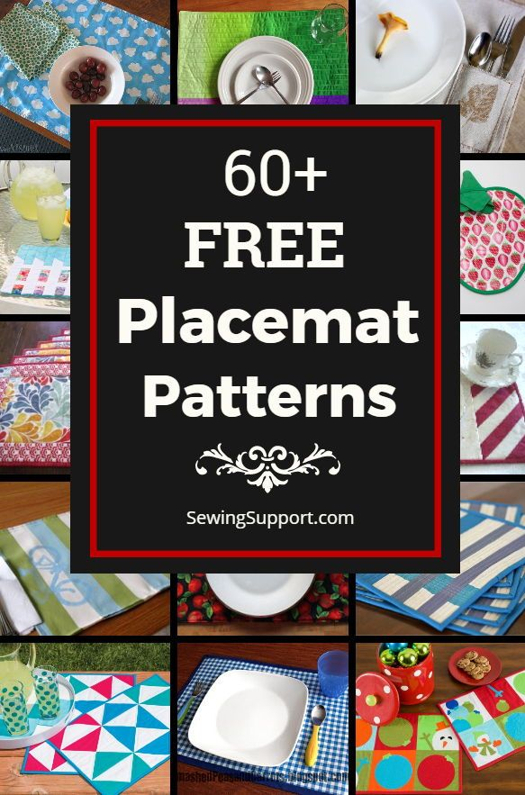 60 Free Placemat Patterns Placemats Patterns Quilted Placemat Patterns Diy Placemats