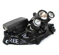Lanterna Farol Cabeça Bike Tripla Led T6   R5 88000w 250000l