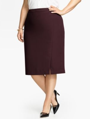 Refined Crepe Straight Skirt - Talbots
