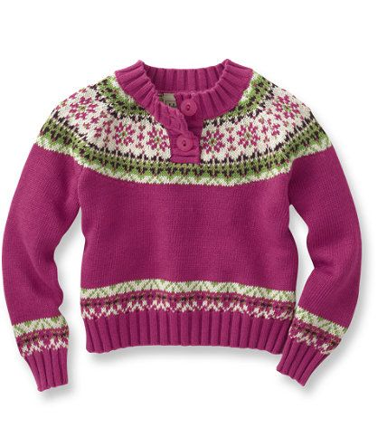 Infant and Toddler Girls' Fair Isle Sweater: Sweaters | Free ...