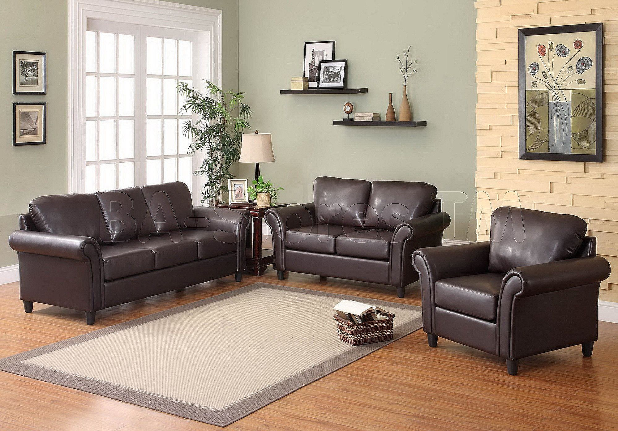 Living Room With Brown Couch, Dark Brown Couch Living Room Design
