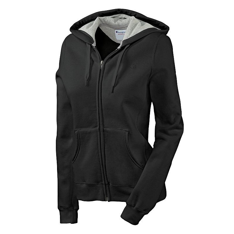 This Champion hooded jacket will be your go-to choice. Soft fleece ...