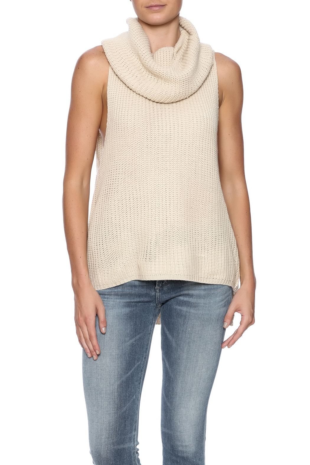 HYFVE Sleeveless Cowl Neck Sweater | Cowl neck and High low