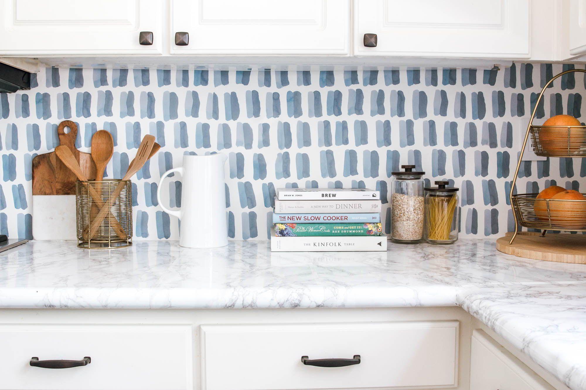 Ra At Home Anita Yokota S Kitchen Backsplash Wallpaper Diy Backsplash Backsplash