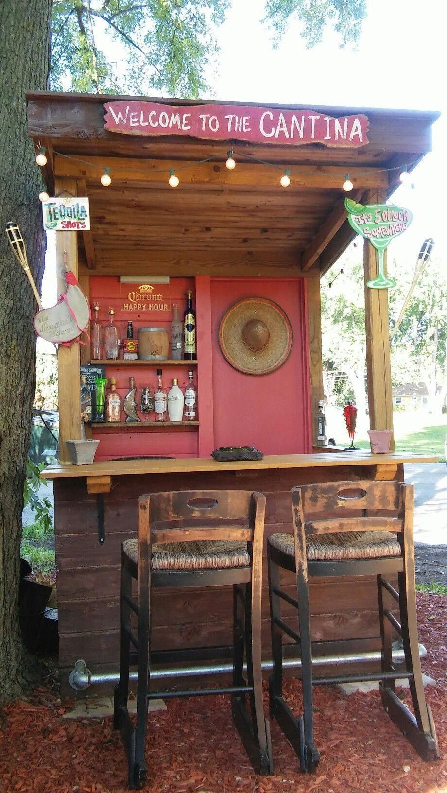 How To Store Your Fridge Rustic Outdoor Kitchens Backyard Bar Outdoor Cooking Area