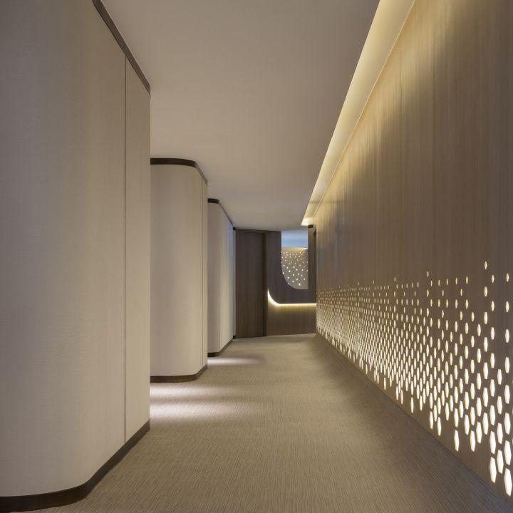 Hospital Corridor Lighting Design: HKIRC Medical Center By PAL Design, Hong Kong » Retail