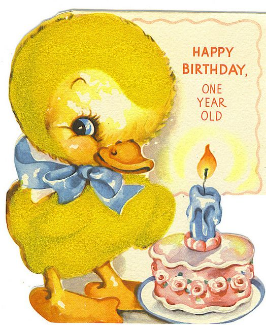 Happy Birthday One Year Old Vtg Bday Pinterest Birthday Happy