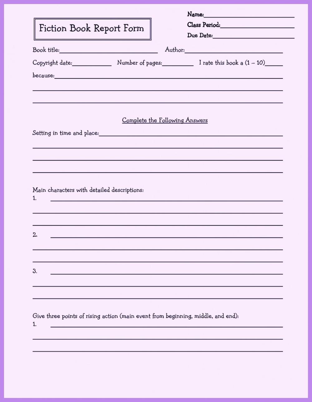 Grade 9 Book Report Template 3 Templates Example Templates Example [ 1286 x 1000 Pixel ]