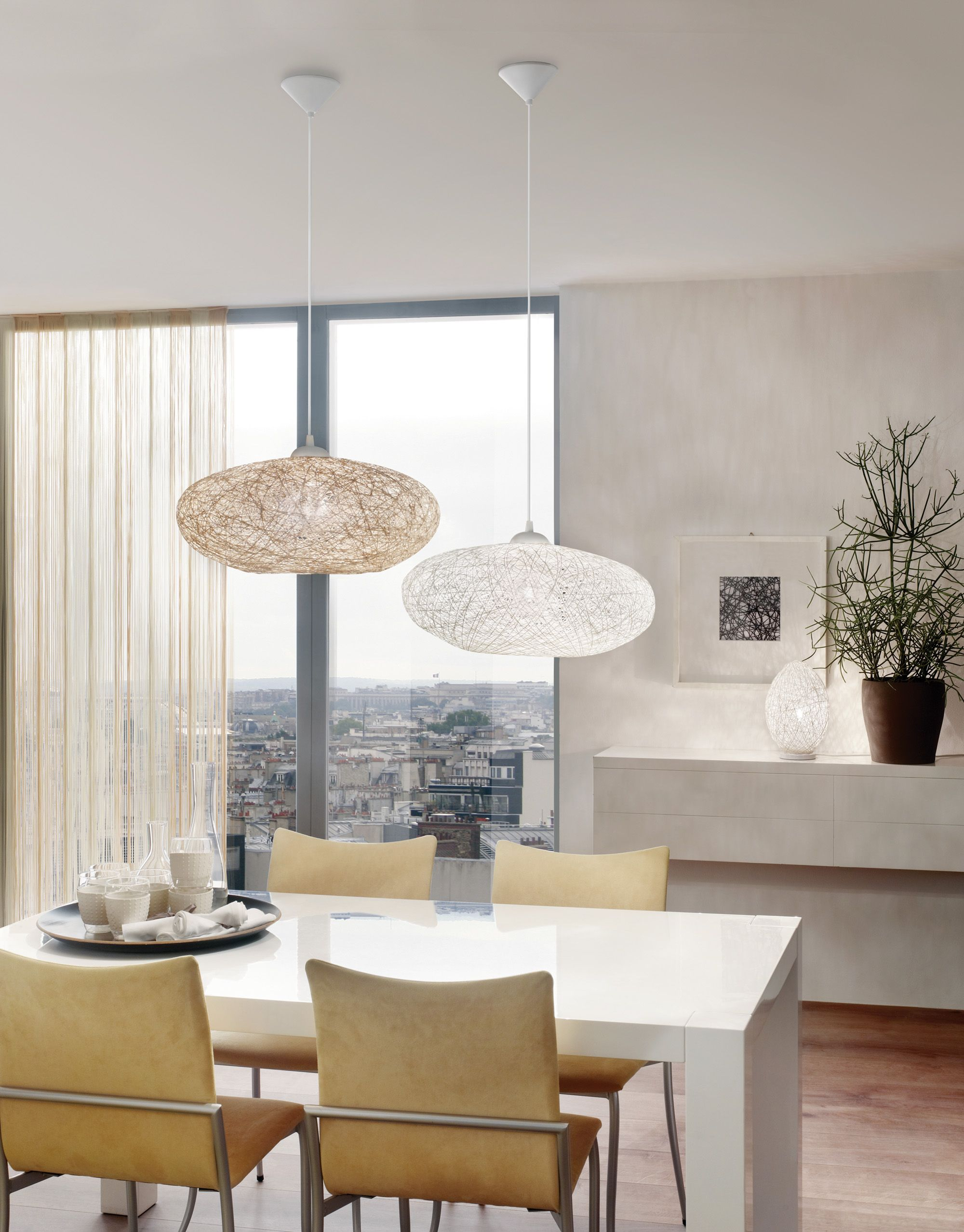 Eglo Esszimmerlampe Eglo Campilo Family With Pendant Lamps 93373 And 93374 And Table