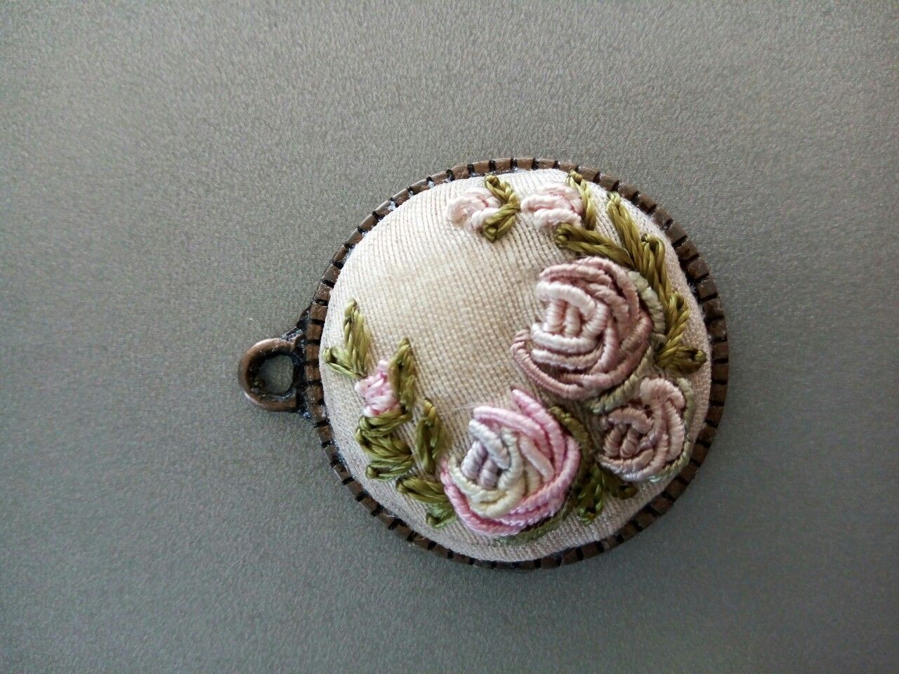 brooch jewelry embroidery with item decoration livemaster shop the gold listopad online embroidered beaded on