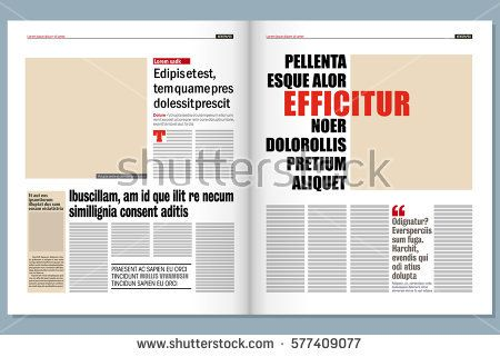 Modern Newspaper Template With Images Newspaper Template