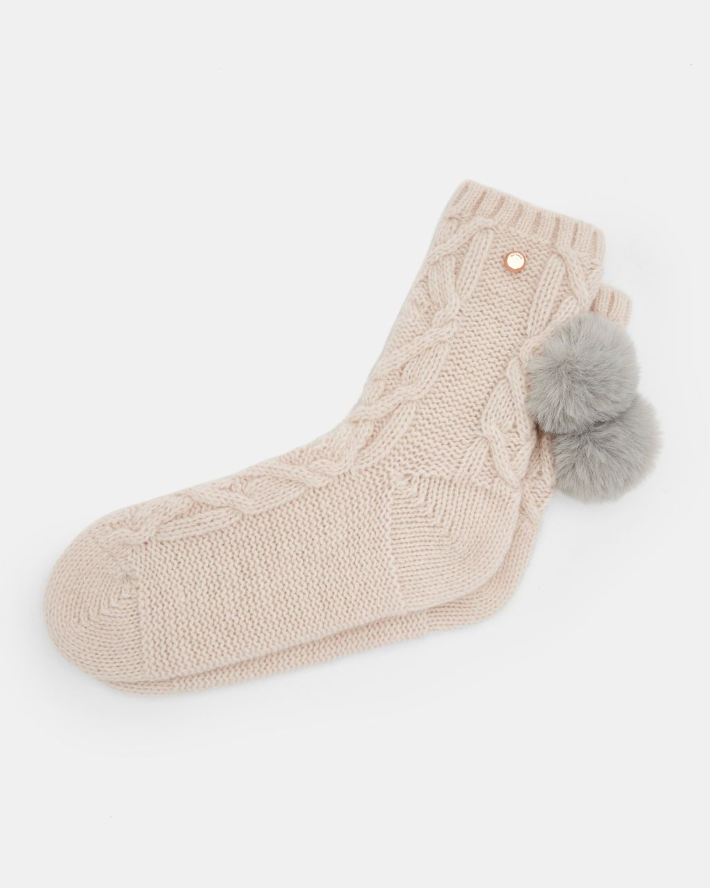 0ade382bca3bc Knitted wool pom pom hat and socks set - Pink