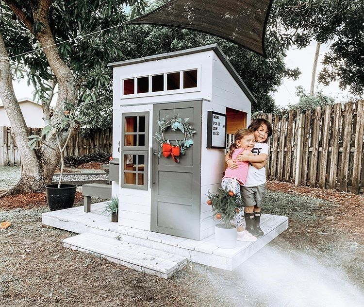 Modern Outdoor Playhouse White Playhouse Outdoor Play Houses Modern Outdoor