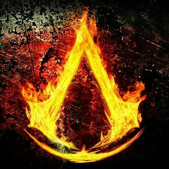 Flaming Assassin Symbol Assasins Creed Assassins Creed Logo