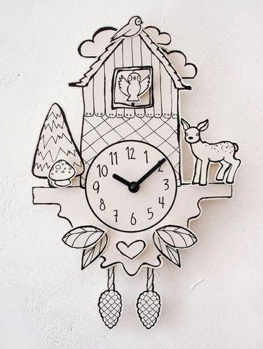 Reloj Cuco Pintado Manualidades Manualidades Escolares Y