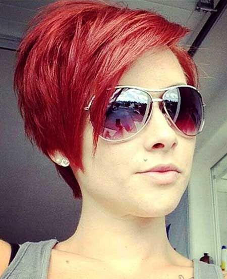 kort rødt hår