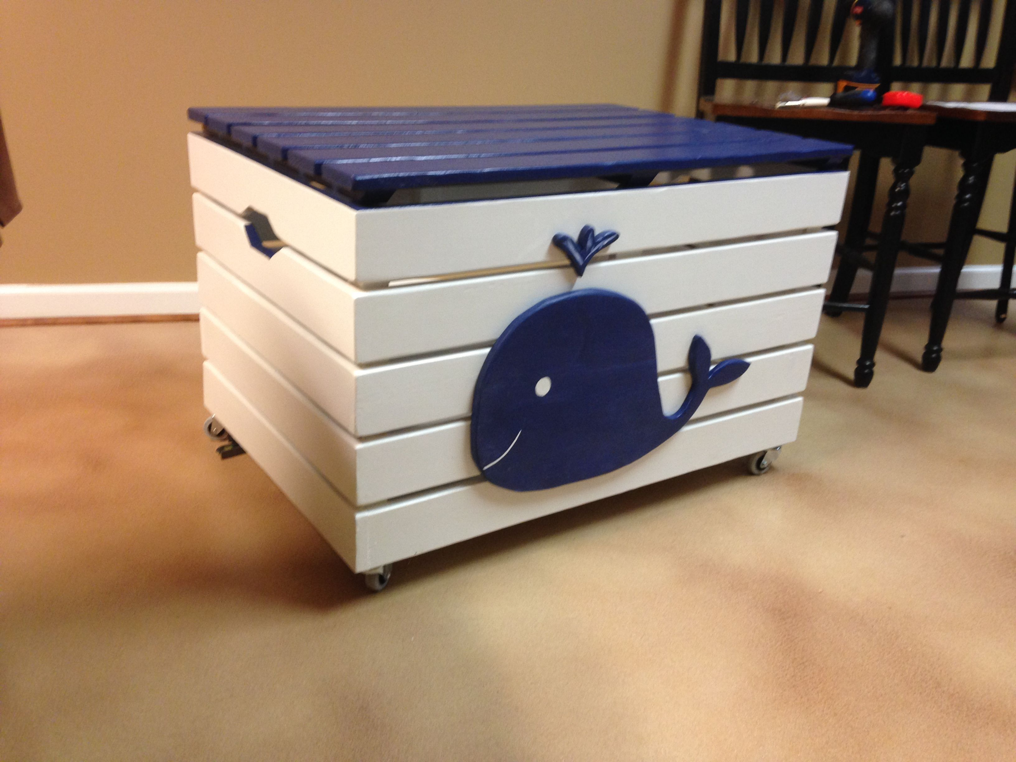 A Whale Of A Toy Chest Painted Toy Boxes Boys Toy Box Boys Toy Chest