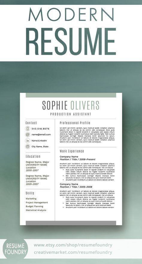 Reference Page Resume Template Enchanting Modern Resume Template For Word 13 Page Resume  Cover Letter  .