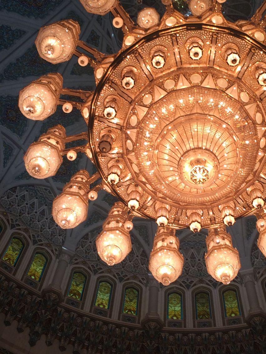 2nd biggest chandelier in world #oman #travel #chandelier