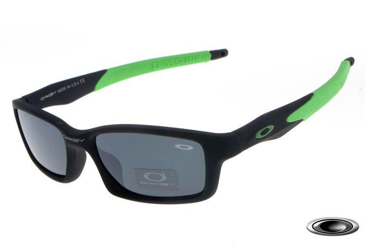 1a4cb8e862d 2017 new Oakley Crosslink Black Green Frame Grey Lens sales online ...