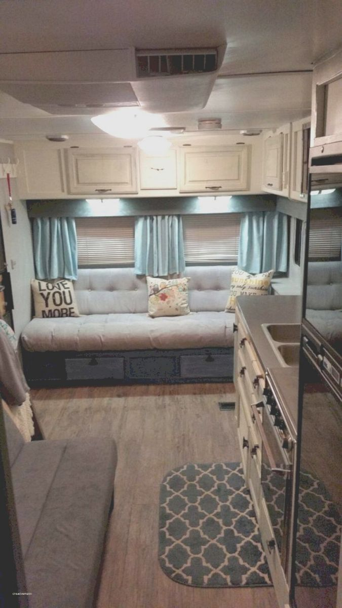 96 travel trailer decorating ideas creative ways rv decor remodeled campers vintage camper. Black Bedroom Furniture Sets. Home Design Ideas