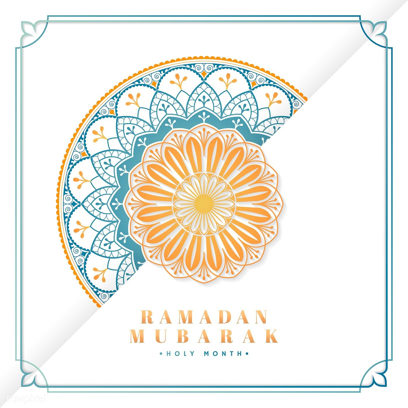 Download Premium Vector Of White And Blue Eid Mubarak Postcard Vector Eid Mubarak Eid Mubarak Greeting Cards Eid Cards
