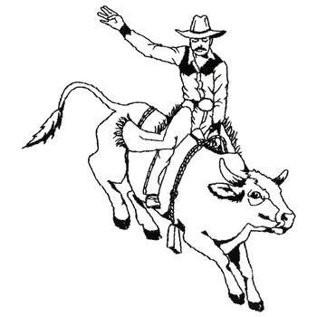bull riding coloring pages 03 | Ideas for kids | Bull ...