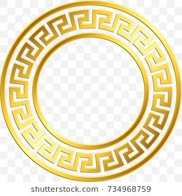 Round Frame With Traditional Vintage Golden Greek Ornament Meander Pattern On Transparent Back Desenhos De Pichacao Plano De Fundo Pc Cartao De Visita Grafica