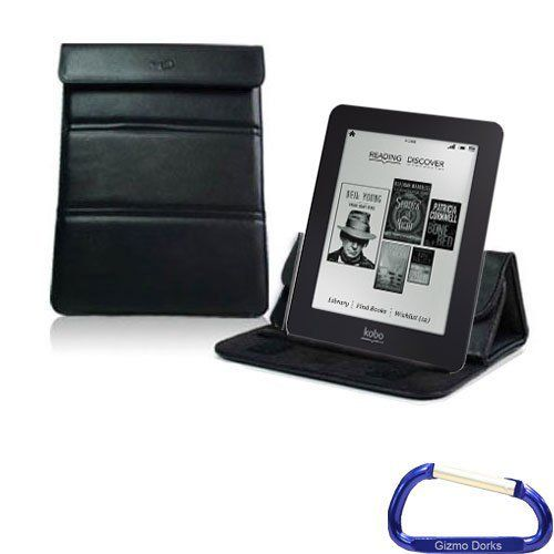 Gizmo Dorks Leather Case Cover Folding Stand Black For Kobo Glo Ereader By Gizmo Dorks 13 99 The Faux Leather Case Leather Case Case Cover Faux Leather