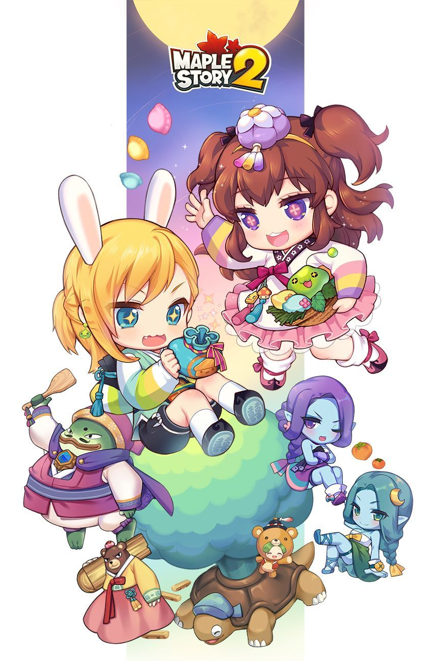 Maple Story 2 Game character design, Character design