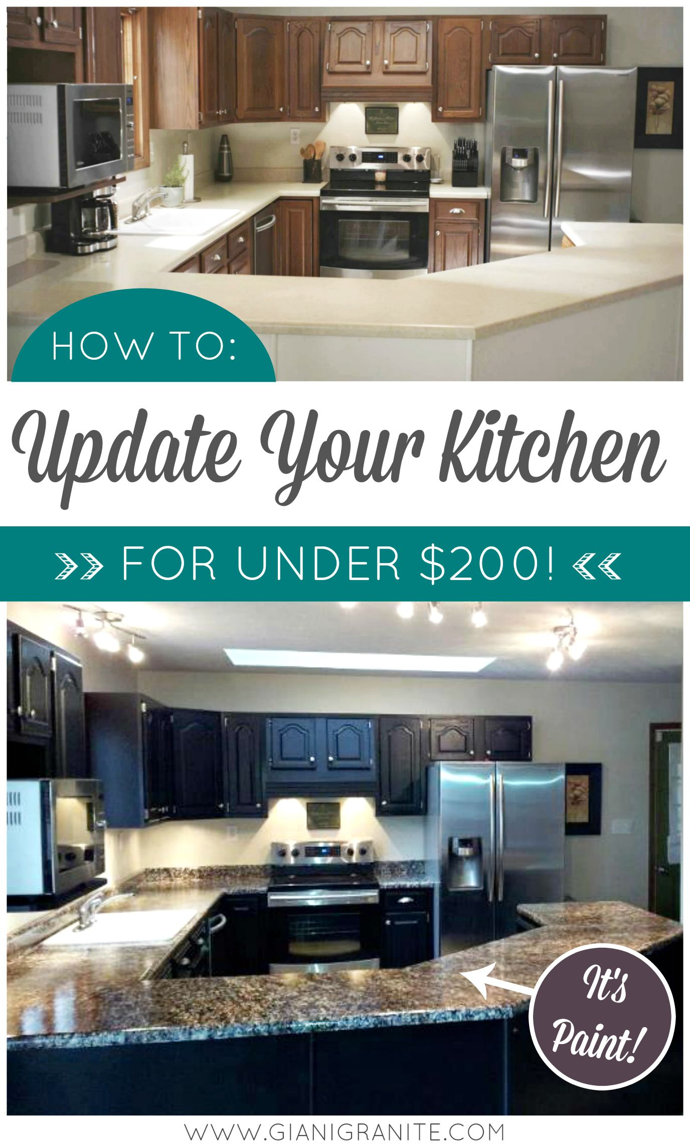 DIY Kitchen Makeover. Get a high-end look on a small budget! Giani ...
