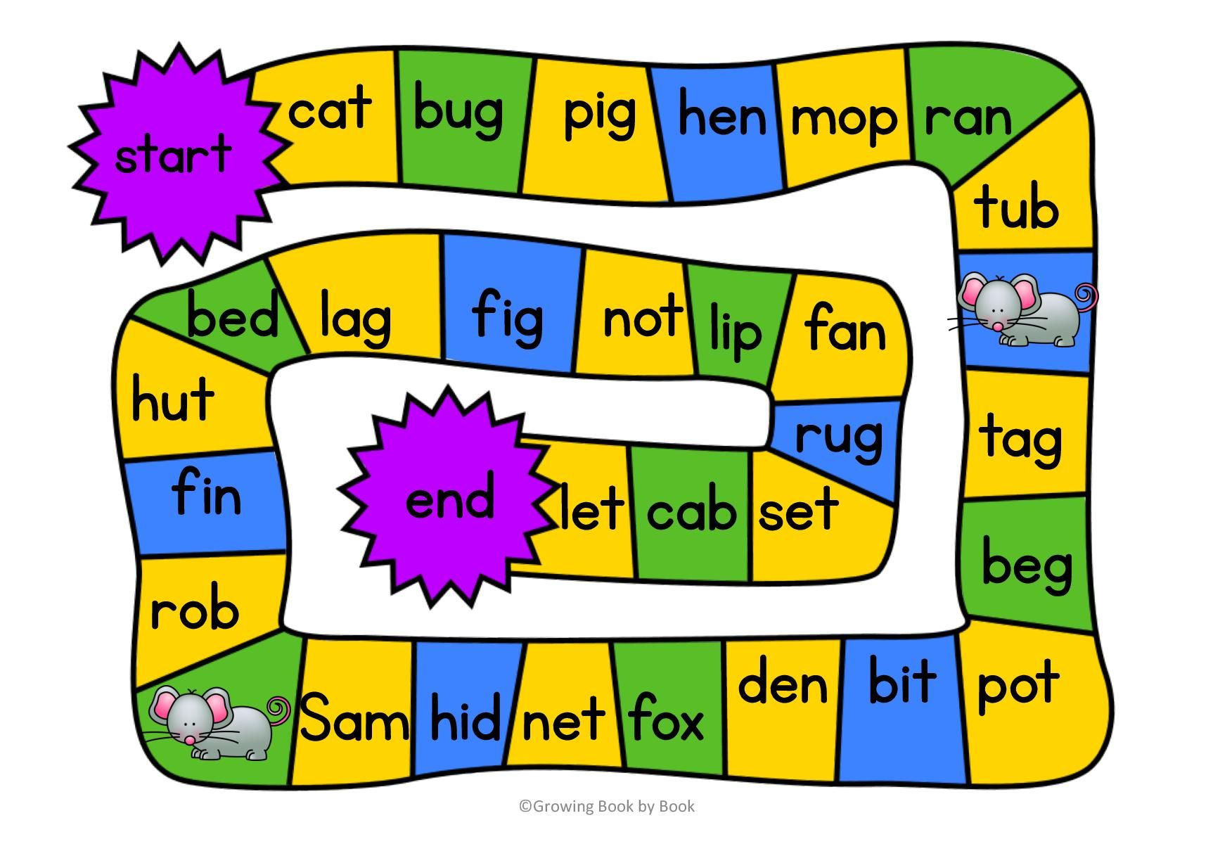 3 Free Printable Phonics Games
