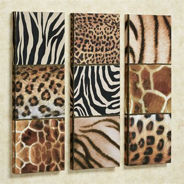 Leopard Print Wall Decor exotic patterns wild animal print canvas art set   wild animals