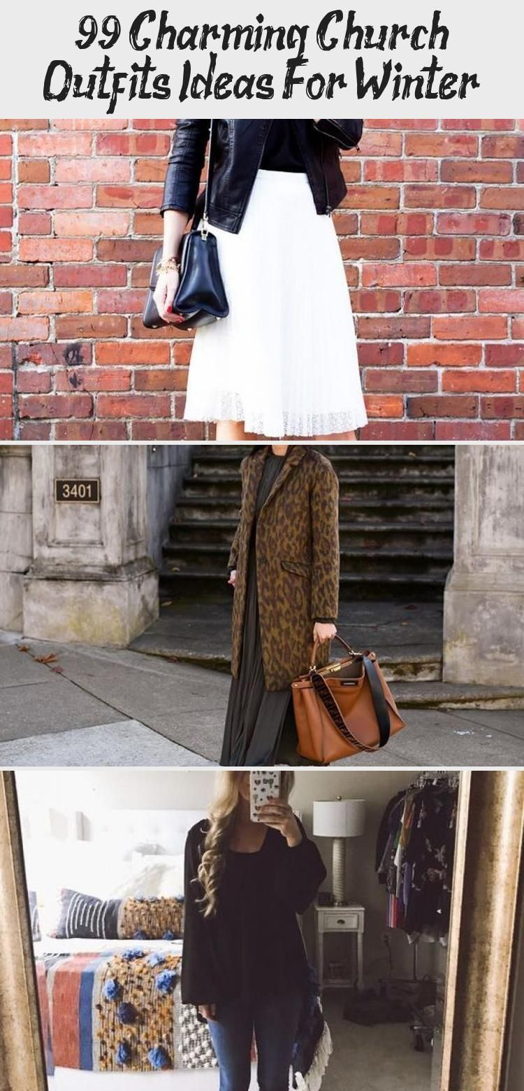 99 Charming Church Outfits Ideas For Winter   Wearing white after Labor Day used to be a fashion faux pas, but not anymore. White can be a beautiful color for fall and winter, especially for all t... #30+beautifulspringoutfitsforeverydaywear #churchoutfitfall