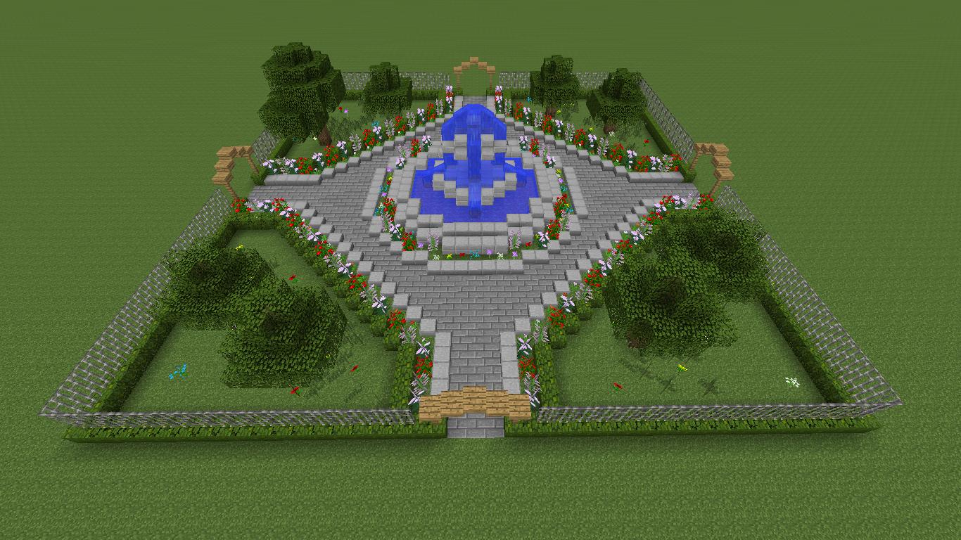 Jardin À La Française Minecraft - WebDiz