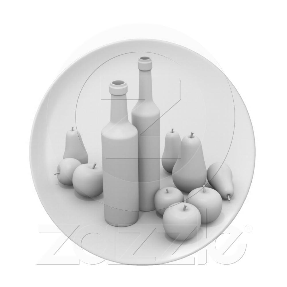 Plate with white still life from Zazzle.com