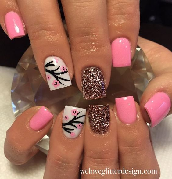 Cherry Blossom Nail Decal Soft Pink Nagel Mooie Nagels En Ideen