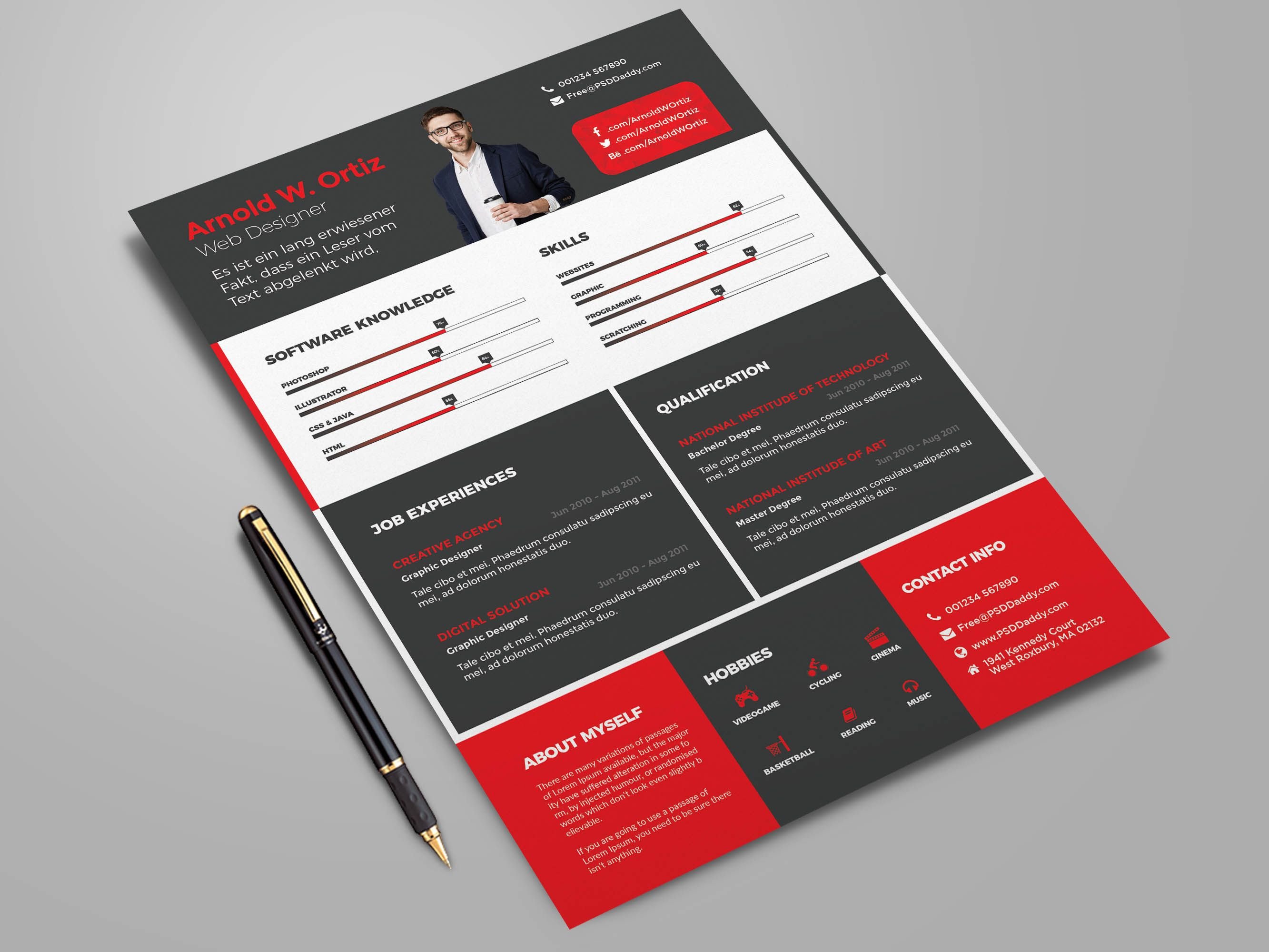 Free Professional Resume Template - Free professional resume template, Cv template free, Cv template, Resume template professional, Resume template, Resume template free - Resume design bundle with four colors option for any job seeker  Itis designed to put your best foot forward and stand out of the whole lot of applicants  There is 4 colours option, Ready to print