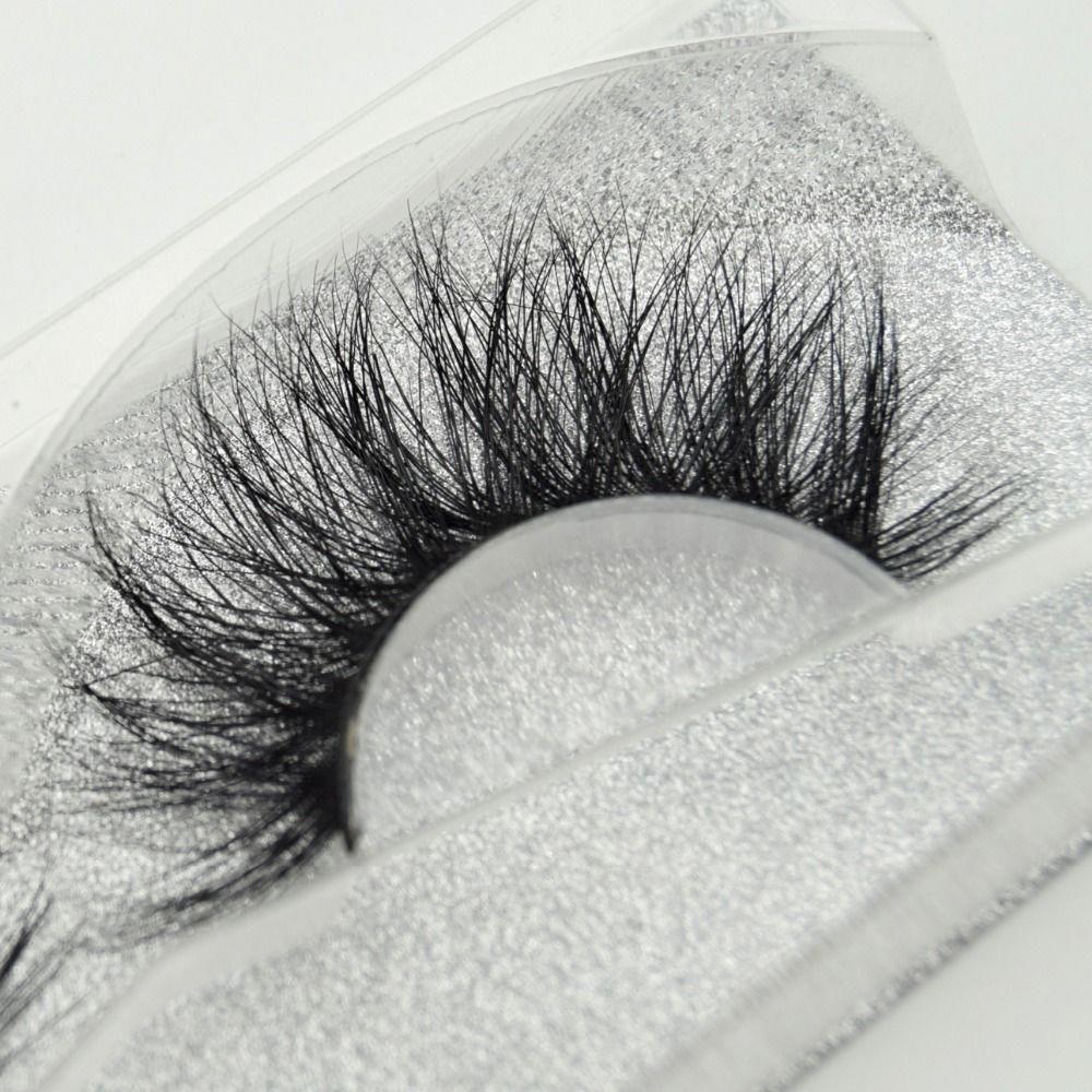 84bccb58f40 Natural Cross Long 100% Real 3D Mink Fur Eye Lashes Extension False  Eyelashes