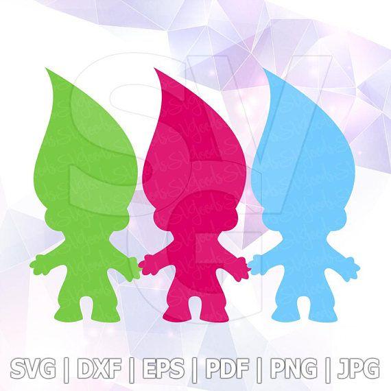 SVG DXF PNG Poppy Trolls Hair ClipArt Cut File Cricut Silhouette ScanNcut Birthday Party Decoration Vinyl