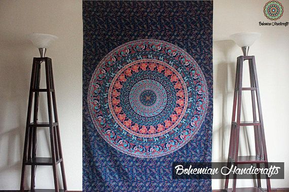 Photo of Mandala Tapestry Gold Decor Wall Tapestries Indie Decor Boho Tapestry Wall Hanging Yoga Decor Modern Tapestry Hippie gold Tapestry lit