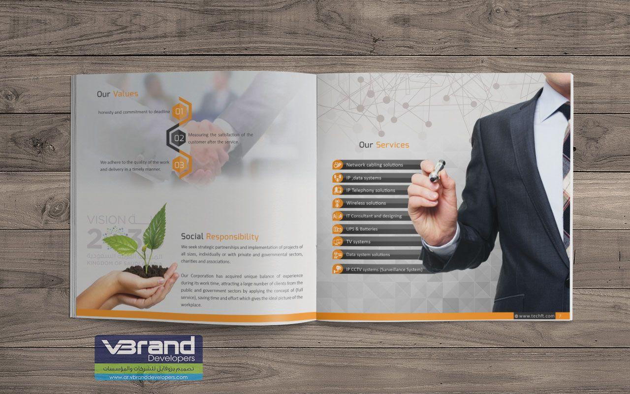 تحميل قالب بروشور عن البيئة Psd مجانا Brochure Psd Business Marketing Marketing