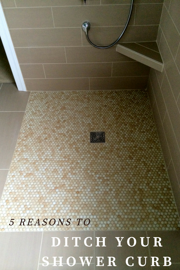 5 Compelling Reasons You Need To Eliminate Your Shower Pan Threshold Wet Room Shower Diy Bathroom Remodel Bathroom Remodel Shower