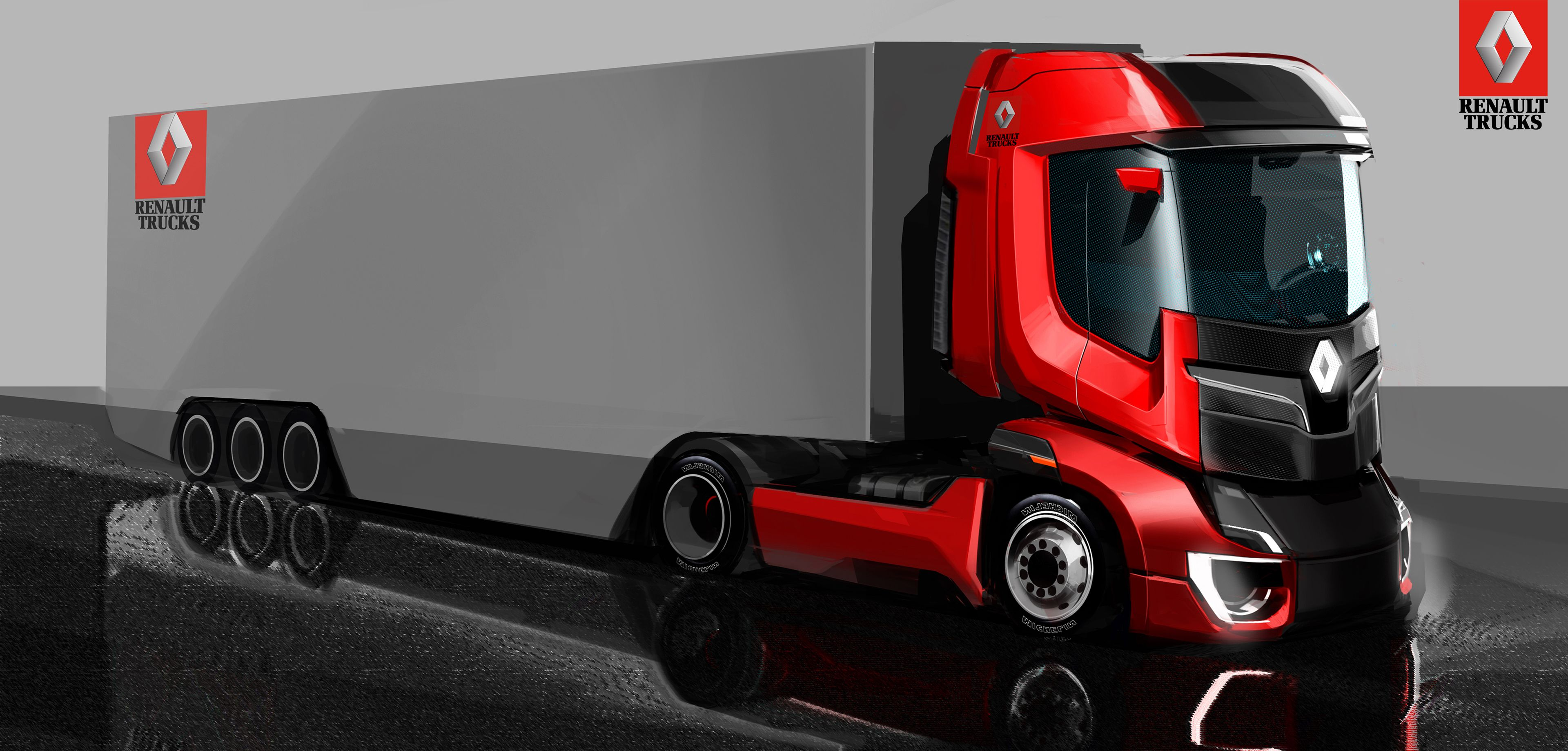 Different solutions for Next Gen Renault truck cabs | Concept cars ...