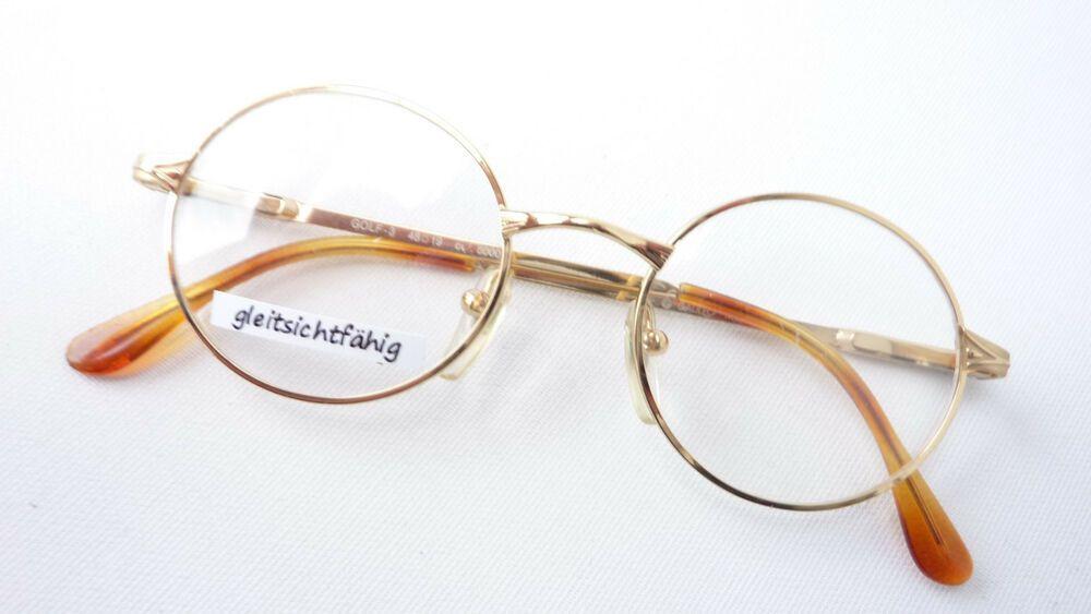 Augenoptik Sonnenbrillen & Zubehör Brille Extrem Gestell Kunststoff Rand Rund Schwarz Silber Luxusmarke Idc Size M